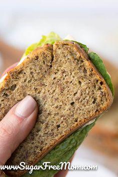 Low Carb Coconut Flour Bread The BEST Keto Low Carb Coconut Flour Bread for sandwiches!The BEST Keto Low Carb Coconut Flour Bread for sandwiches! Best Low Carb Bread, Lowest Carb Bread Recipe, No Carb Bread, Ketogenic Recipes, Low Carb Recipes, Diet Recipes, Ketogenic Diet, Coconut Flour Recipes Low Carb, Low Carb Flour