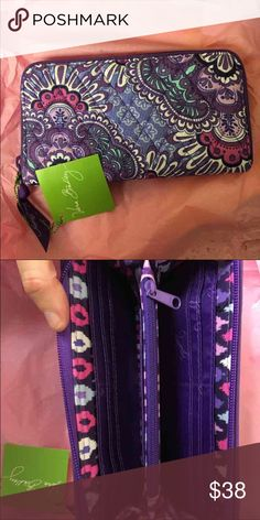 NWT accordion wallet Vera Bradley lilac tapestry Brand new--- bought wrong style Vera Bradley Bags Wallets