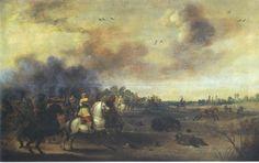 Gustavus Adolphus leading his last cavalry charge, Battle of Lützen