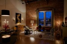 Beautiful living with a brick wall!