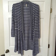 Blue & white cardigan Worn only twice. Not from listed brand. Its a boutique brand. Anthropologie Sweaters Cardigans