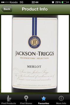 Jackson-Triggs Proprietors' Selection Merlot (Ontario) - $10.05 750 mL (LCBO # 383711)
