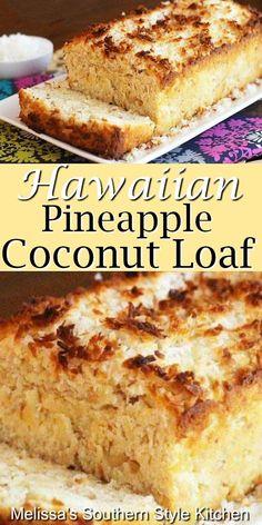 dessert recipes 51580358221571455 - Island inspired Hawaiian Pineapple Coconut Loaf # Source by melissasssk Bread Recipes, Baking Recipes, Cake Recipes, Dessert Recipes, Pineapple Recipes, Pineapple Coconut, Food Cakes, Cupcake Cakes, Köstliche Desserts
