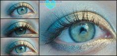Navy + Gold #makeup