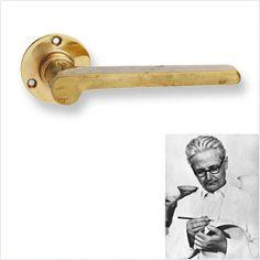 Wilhelm Wagenfeld door handle, Bauhaus Fittings - great source for classic modern hardware