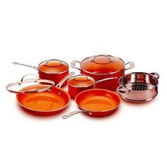 10.best copper cookware: Copper Pan 10-piece Set Luxury Induction Cookware Set Non-stick