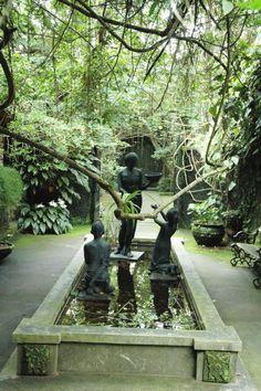 Ulen Sentalu courtyard Semarang, Yogyakarta, Traditional House, Architecture Design, Travel Destinations, Museum, Gardens, Country, Places