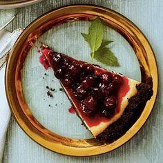 White Chocolate-Cranberry Cheesecake | MyRecipes.com