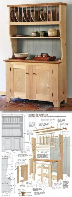 Cupboard Plans - Furniture Plans and Projects   WoodArchivist.com