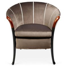 Check out this item at One Kings Lane! Progetti Armchair, Taupe/White
