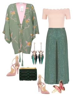 """""""Untitled #688"""" by clothes-wise ❤ liked on Polyvore featuring Temperley London, LUCY IN DISGUISE, Balmain, Accessorize, New Look, Vernissage and Christian Louboutin"""