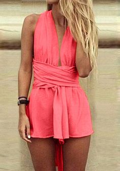 Strappy Open Back Romper – Jumpsuits and Rompers | Lookbook Store. Discover and shop the latest women fashion, celebrity, street style you love on www.zkkoo.com