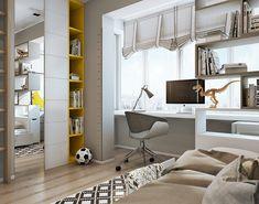 детская для мальчика в современном интерьере квартиры