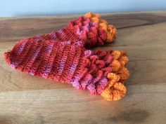 Pink Orange Fingerless Mitts - Pink Orange Drivers Mitts - Coral...