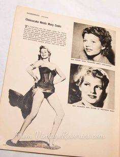 #ritahayworth #nomakeup #history #model #modeling #pinup #pinupmodel #pinuphistory #1950s