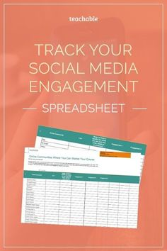 You're social! You're on every social media platform from Facebook to Pinterest to SlideShare and LinkedIn. How do you keep track of all your growth?! Well we're sharing the exact template we use to track our social growth here at Teachable. Get it now for free!