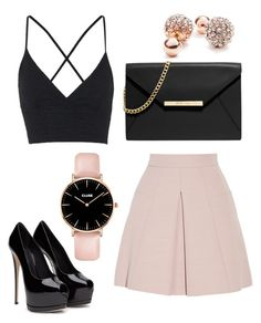 """""""Untitled #17"""" by audreytaylorb-1 on Polyvore featuring Topshop, Alexander McQueen, MICHAEL Michael Kors and GUESS"""