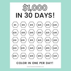 52 Week Savings Challenge, Money Saving Challenge, Saving Money Chart, Money Saving Tips, Money Tips, Saving Ideas, Savings Planner, Weekly Savings Plan, Money Planner