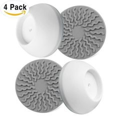 4 Pack Wall Cups For Baby Gates Safety Gates Wall Protection Guard Saver Protects Wall Door, Baby Safety & Health