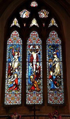 Adlestrop St Magdalene chancel east window by Hardman 1870 -64