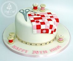 Sewing Patchwork Birthday Cake