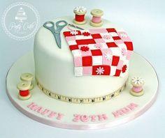 Sewing Patchwork Birthday Cake