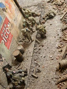 "1/35th diorama titled ""Carentan"" by Peter Granton"