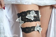 Lace Wedding GarterSomething  Black Garter by BridalSpecialDay,