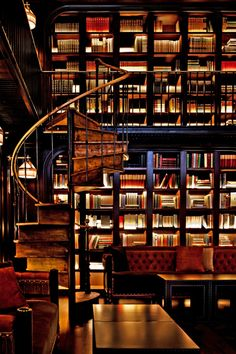 The NoMad Hotel, glamorous Library Bar.