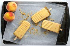 Skinny Peach Pie Popsicles