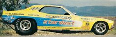 Schumacher's beautiful yellow Cuda F/C. The Shoe also featured a red and… Funny Car Drag Racing, Nhra Drag Racing, Funny Cars, Auto Racing, Funny Looking Cars, Thing 1, Old Race Cars, Vintage Race Car, Drag Cars