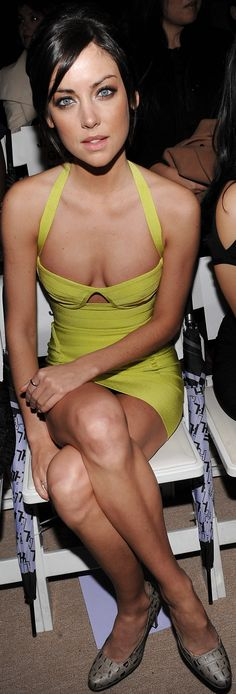 jessica stroup.. love the dress!