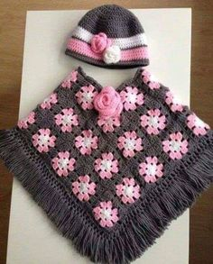Crochet Baby Poncho Crochet Jacket Crochet Girls Crochet For Kids Girls Poncho Knitting Patterns Crochet Patterns Kids Outfits Crocheting Crochet Baby Poncho, Baby Girl Crochet, Crochet Baby Clothes, Crochet For Kids, Crochet Shawl, Knit Crochet, Easy Crochet, Poncho Knitting Patterns, Crochet Patterns
