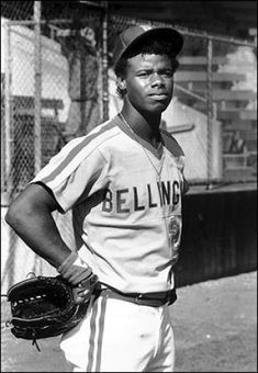Ken Griffey Junior in the uniform of the Class A Bellingham Mariners, which is where he started his pro career.