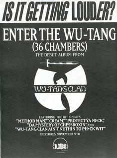 Wu-Tang Clan - Enter The Wu-Tang (36 Chambers) debut poster