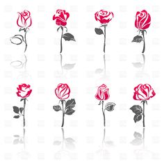 Rose silhouette, 17073, download royalty-free vector clipart (EPS)