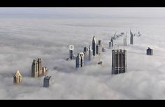 An incredible shot from the Burj Kalifa, Dubai