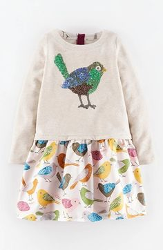 Free shipping and returns on Mini Boden 'Cosy' Woodland Dress (Toddler Girls, Little Girls & Big Girls) at Nordstrom.com. A too-cute woodland motif charms on a cotton dress that has the look of separates in one easy piece.
