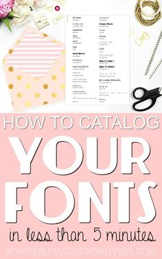 5 Minute Tutorial – Print Your Fonts into a Font Catalog on Frugal Coupon Living. This is great for crafting and Pinterest image design. We paired it with our Cricut tutorial ideas.