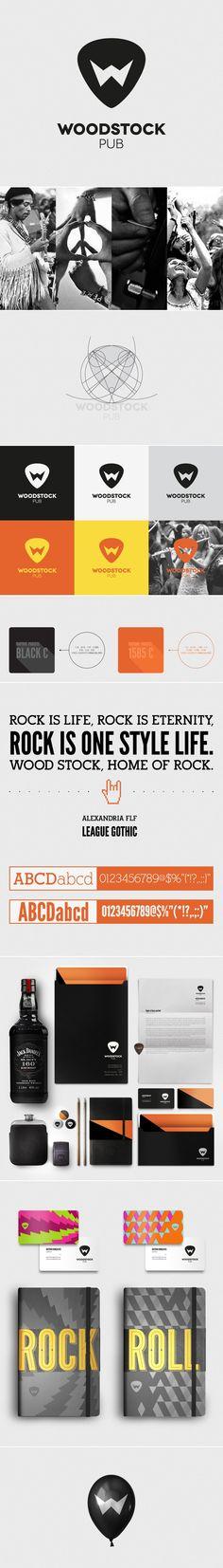 Woodstock branding - created via http://pinthemall.net