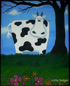 cow painting by olivia alfred @Olivia Alfred This is so cute! You have amazing talent !