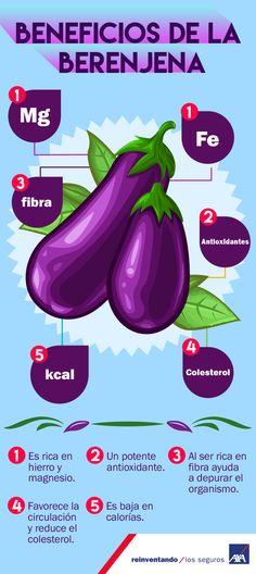 La #Berenjena es una #verdura originaria de la #India,  con ricas #propiedades #antioxidantes, diuréticas y depurativas. ¡Conoce sus beneficios!  #AXAteCuida #Salud #frutas #verduras