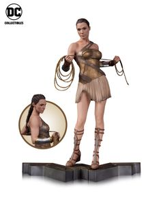 Gal Gadot's Wonder Woman movie comes out next summer, but it's certainly not too soon to get a good look at some of the film's tie-in merchandise, especially since we've already seen ateaser trailer for the movie. As the consensus highlight of Batman v Superman, from both lovers and haters of that film, Wonder Woman deserves at least as many miniature replicas as Henry Cavill and Ben Affleck, and today we're happy to reveal what will likely be the first of many for this movie: three DC…