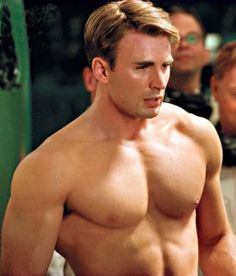 Take a peek at how Chris Evans work hard to beef up for his role as Captain America.