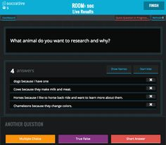 Socrative - Tool for creating quizzes and for other interactive classroom activities