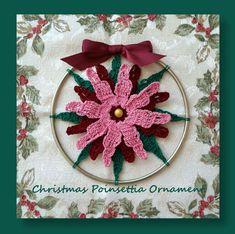 """I added """"Christmas Poinsettia Ornament"""" to an #inlinkz linkup!http://www.crochetmemories.com/blog/christmas-in-july-event-holiday-patterns"""