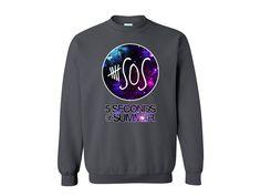 Galaxy Design-5 Seconds of Summer 5 SOS Sweatshirt Gray Inspired Sweater.Calum Luke Michael Ashton band.Please visit 5SOS Shirt 5Sos shirt