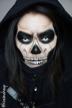 Grim Reaper Halloween makeup!