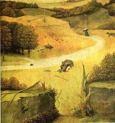 "renaissance-art-blog: ""The adoration of the Magi (detail) via Hieronymus Bosch """