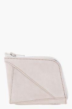 grey suede diamond wallet // damir doma